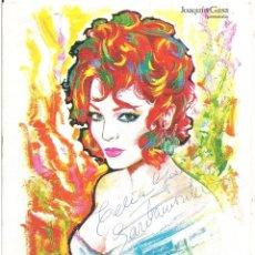 Cine: SARA MONTIEL EN PERSONA DISEÑADO POR MAC AUTOGRAFO PROGRAMA LIBRITO TEATRO LA ZARZUELA 1969. Lote 97723891
