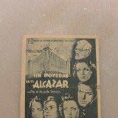 Cine: FOLLETO CINE SIN NOVEDAD EN EL ALCAZAR. U FILMS. Lote 97730259