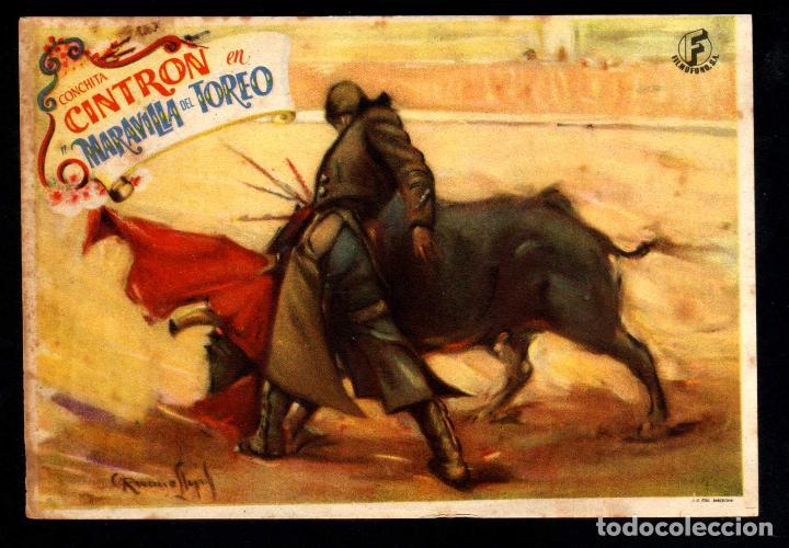 FOLLETO DE MANO: MARAVILLA DEL TOREO CON CONCHITA CINTRON PUBLI TEATRO CINE VICH (Cine - Folletos de Mano - Clásico Español)