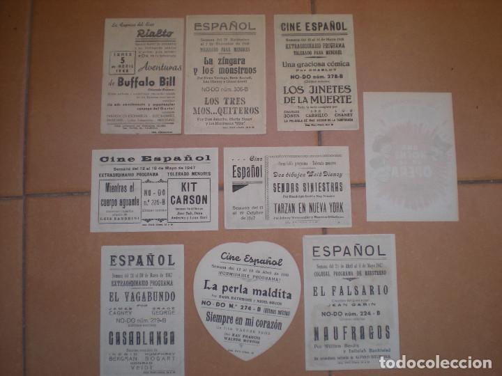 Cine: LOTE DE 9 PROGRAMAS DE CINE DE MANO DE LOS AÑOS 40. - Foto 2 - 97786399
