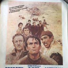 Cine: LOS CAÑONES DE NAVARONE - LOTE 15 POSTERS ORIGINALES. Lote 97792311