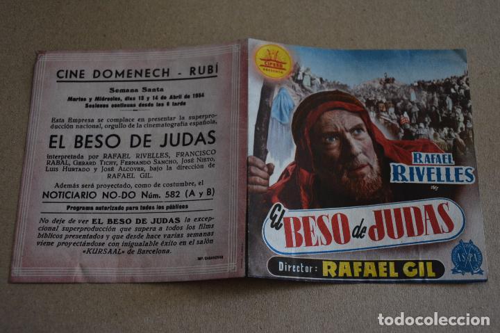 EL BESO DE JUDAS. RAFAEL RIVELLES, RAFAEL GIL, FRANCISCO RABAL. CINE DOMENECH, RUBI. LITERACOMIC. (Cine - Folletos de Mano - Clásico Español)