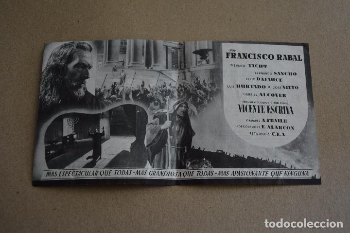 Cine: EL BESO DE JUDAS. RAFAEL RIVELLES, RAFAEL GIL, FRANCISCO RABAL. CINE DOMENECH, RUBI. LITERACOMIC. - Foto 2 - 97903743