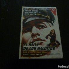 Cine: PROGRAMA DE CINE IMPRESO EN LA PARTE TRASERA. Lote 97910755