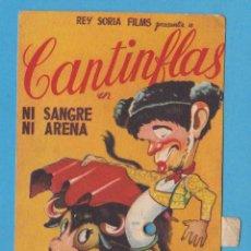 Cine: CANTINFLAS EN NI SANGRE NI ARENA. REY SORIA FILMS. PROGRAMA DE MANO CON MOVIMIENTO. Lote 204789716