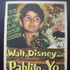 Cine: PABLITO Y YO, PEDRO ARMENDARIZ, DISNEY, CINE MODERNO, 1958. Lote 98038739