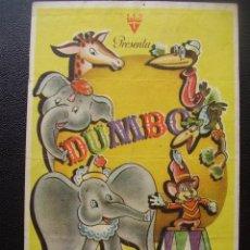 Cine: DUMBO, DISNEY, CINE COLISEUM DE RUBÍ, 1945. Lote 98080695