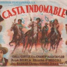 Cine: CASTA INDOMABLE - PROGRAMA SENCILLO DE UNIVERSAL FILMS SIN PUBLICIDAD. RF-1300. Lote 98200219