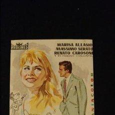 Cine: NARUZZELLA PROGRAMA DE CINE CON PUBLICIDAD ESTADO NORMAL . Lote 98238799