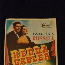 Cine: HEDDA GABLER PROGRAMA DE CINE CON PUBLICIDAD ESTADO BUENO. Lote 98239255
