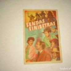 Cine: SENDAS SINIESTRAS . CON PUBLICIDAD. Lote 98241363