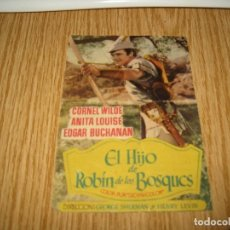 Cine: EL HIJO DE ROBIN DE LOS BOSQUES IMPR DE UBEDA MUY ANTIGUA. Lote 98242799