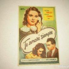 Cine: TE AMARE SIEMPRE, CON PUBLICIDAD. Lote 98243195