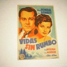 Cine: VIDAS SIN RUMBO , CON PUBLICIDAD. Lote 98244939