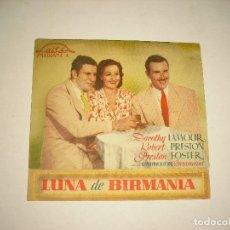 Cine: LUNA DE BIRMANIA, PROGRAMA DOBLE CON PUBLICIDAD. Lote 98245075