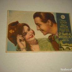Cine: EL PUENTE DE WATERLOO .CON PUBLICIDAD. Lote 98253967