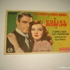 Cine: VUELVE ARSENIO LUPIN , SIN PUBLICIDAD. Lote 98254431