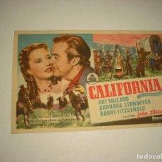 Cine: CALIFORNIA . CINES KURSAAL Y CATALUÑN. Lote 98263907