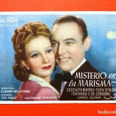 Cine: MISTERIO EN LA MARISMA, CON CONCHITA MONTES.CINE DORADO. Lote 98435819