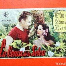 Cine: PROGRAMA LA VENUS DE LA SELVA.-MARIA MONTEZ.CINE TROPICO. Lote 98435987