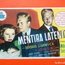 Cine: MENTIRA LATENTE - BARBARA STANWYCK - JOHN LUND.CINE DORADO. Lote 98436855