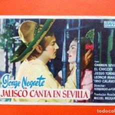 Cine: JALISCO CANTA EN SEVILLA, CON JORGE NEGRETE.CINEMA ELISEOS. Lote 98436943