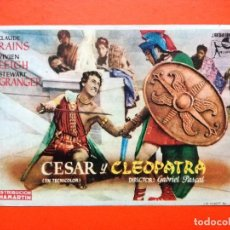 Cine: PROGRAMA CESAR Y CLEOPATRA .-CLAUDE RAINS.TEATRO CARRION. Lote 98437191