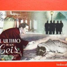 Cine: EL ÚLTIMO DE LOS SEIS. SENCILLO DE CEA. Lote 98437623