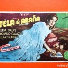 Cine: PROGRAMA TELA DE ARAÑA- ELISA GALVE. Lote 98437691