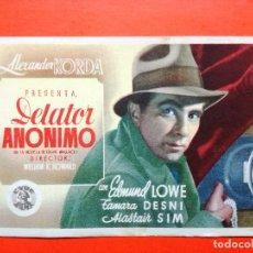 Cine: DELATOR ANONIMO. SENCILLO SIN PUBLICIDAD .. Lote 98437859