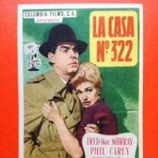 Cine: LA CASA Nº 322, CON KIM NOVAK. CINE GOYA ZARAGOZA. Lote 98477919