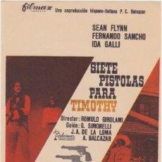 Cine: SIETE PISTOLAS PARA TIMOTHY. Lote 98504927