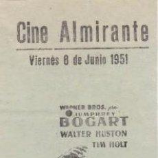 Cine: EL TESORO DE SIERRA MADRE (CON PUBLICIDAD). Lote 98505571