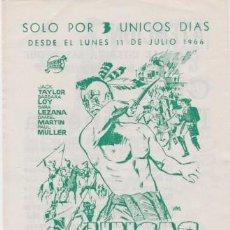 Cine: UNCAS, EL FIN DE UNA RAZA (CON PUBLICIDAD). Lote 98505711