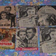 Cine: LOTE X 6 FOLLETOS DE MANO, DOBLES, CINE, MIRA, AÑOS 50 EN SU MAYORIA. Lote 98516767