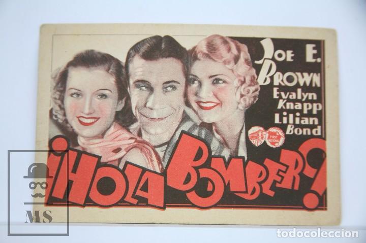 PROGRAMA DE CINE - ¡ HOLA BOMBERO ! - WARNER BROS, AÑO 1933 (Cine - Folletos de Mano - Comedia)