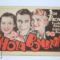 Cine: PROGRAMA DE CINE - ¡ HOLA BOMBERO ! - WARNER BROS, AÑO 1933. Lote 98540815