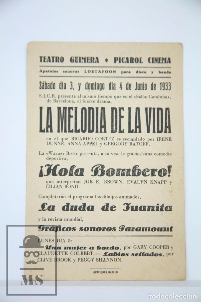Cine: Programa de Cine - ¡ Hola Bombero ! - Warner Bros, Año 1933 - Foto 2 - 98540815