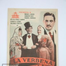 Cine: PROGRAMA DE CINE - LA VERBENA DE LA PALOMA - CIFESA, AÑO 1936. Lote 98541191