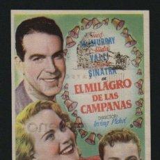 Cine: EL MILAGRO DE LAS CAMPANAS.PROGRAMA SENCILLO CON PUBLICIDAD.TEATRO ANDALUCIA.CÁDIZ.. Lote 98549607