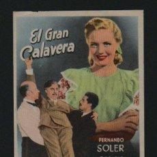 Cine: EL GRAN CALAVERA. PROGRAMA SENCILLO SIN PUBLICIDAD.. Lote 98549863
