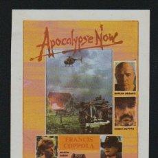 Cine: APOCALYPSE NOW.FOLLETO SENCILLO SIN PUBLICIDAD.. Lote 98576315