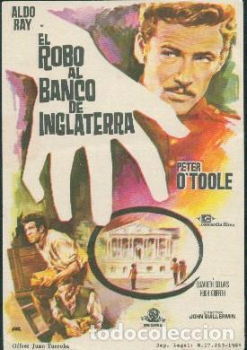 EL ROBO AL BANCO DE INGLATERRA (Cine - Folletos de Mano - Suspense)