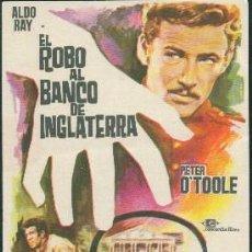 Cine: EL ROBO AL BANCO DE INGLATERRA. Lote 98589227