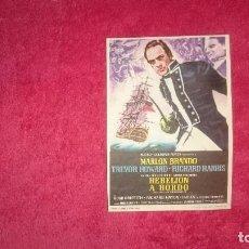 Cine: REBELIÓN A BORDO - MARLON BRANDO - TREVOR HOWARD - RICHARD HARRIS. Lote 98596799