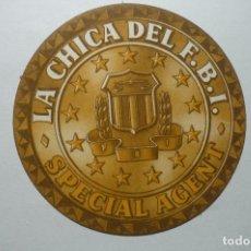 Cine: PROGRAMA TROQUELADO CARTON LA CHICA DEL FBI PUBLICIDAD --BB. Lote 98680867