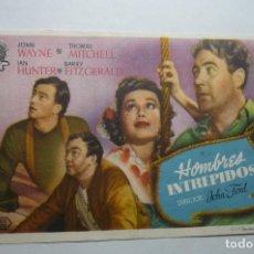 Cine: PROGRAMA HOMBRES INTREPIDOS -PUBLICIDA J.WAYNE. Lote 98681911