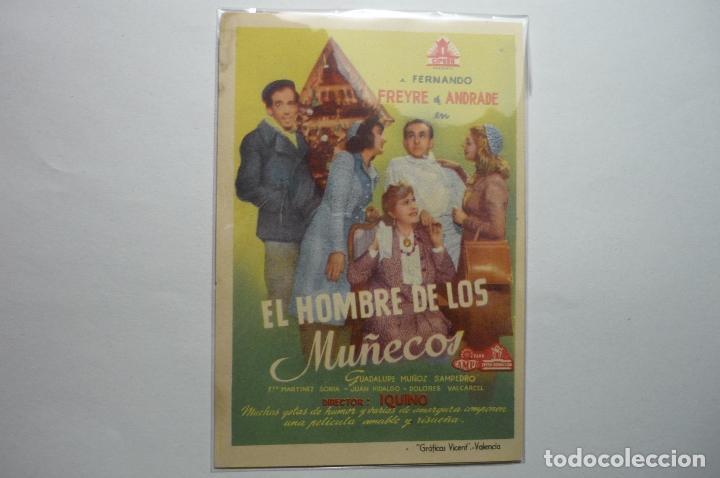 PROGRAMA EL HOMBRE DE LOS MUÑECOS -F.FREYRE DE ANDRADE (Cine - Folletos de Mano - Clásico Español)