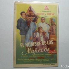 Cine: PROGRAMA EL HOMBRE DE LOS MUÑECOS -F.FREYRE DE ANDRADE. Lote 98682447