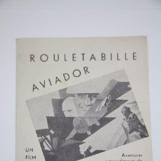Cine: PROGRAMA DE CINE DOBLE - ROULETABILLE AVIADOR - EQUITABLE FILMS, AÑO 1935. Lote 98826099